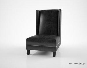 bernhardt design driscoll chair 3d model