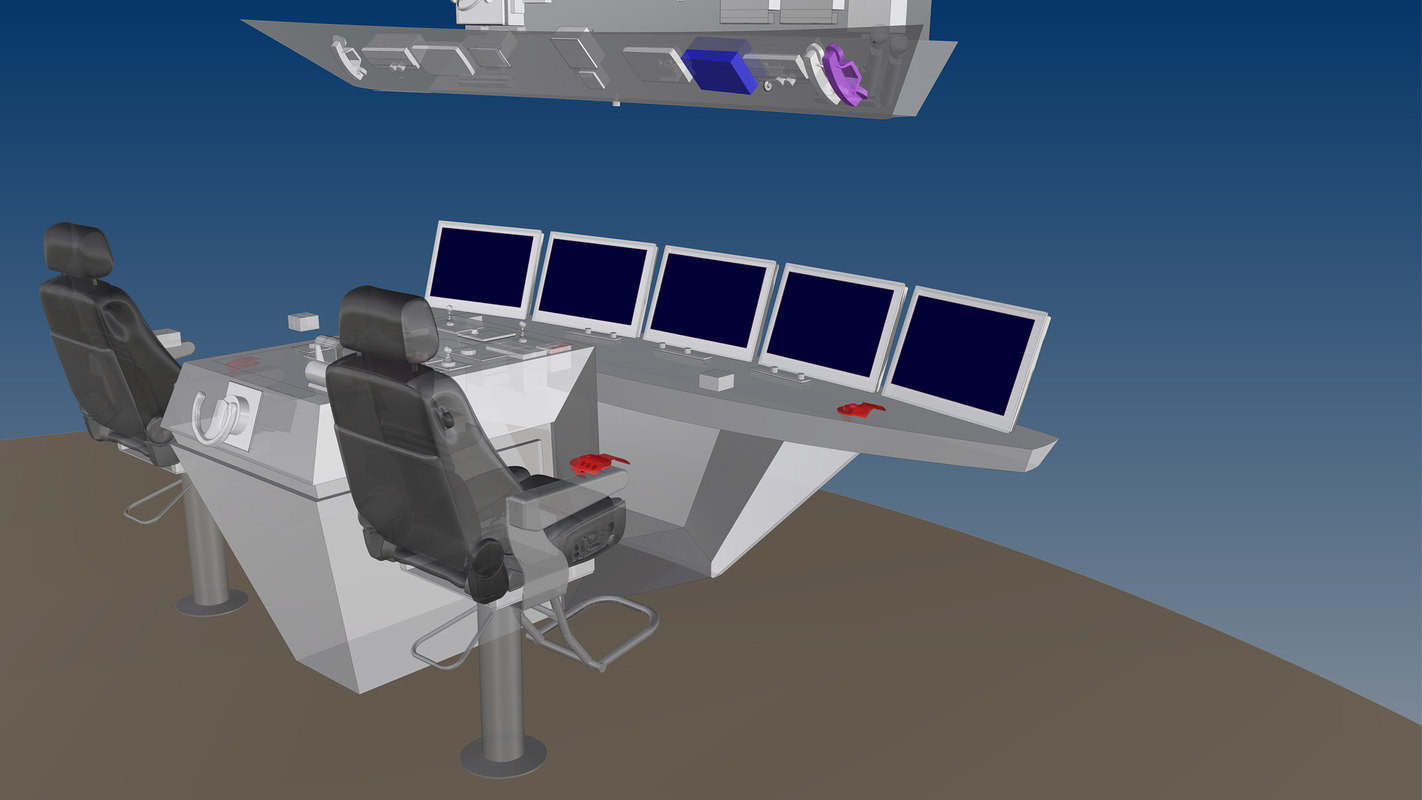 3d command center room model