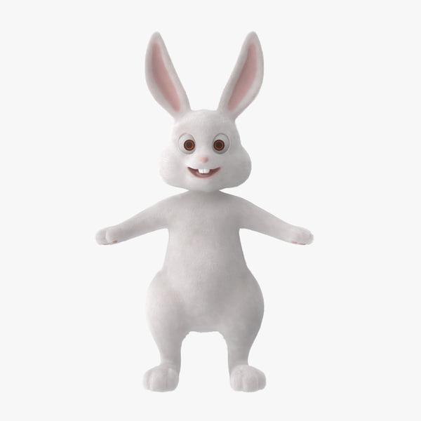 cartoon bunny rigged c4d