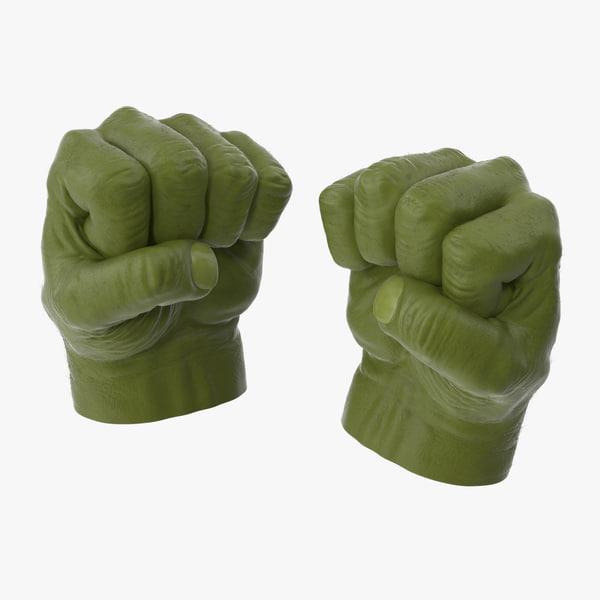 3d model of hulk hands