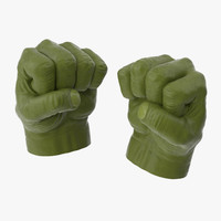 3d model of hulk hands