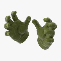 3d model hulk hands open