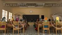 class room 3d max