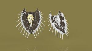 shield 3d obj