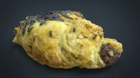 hd chocolate croissant 3d max