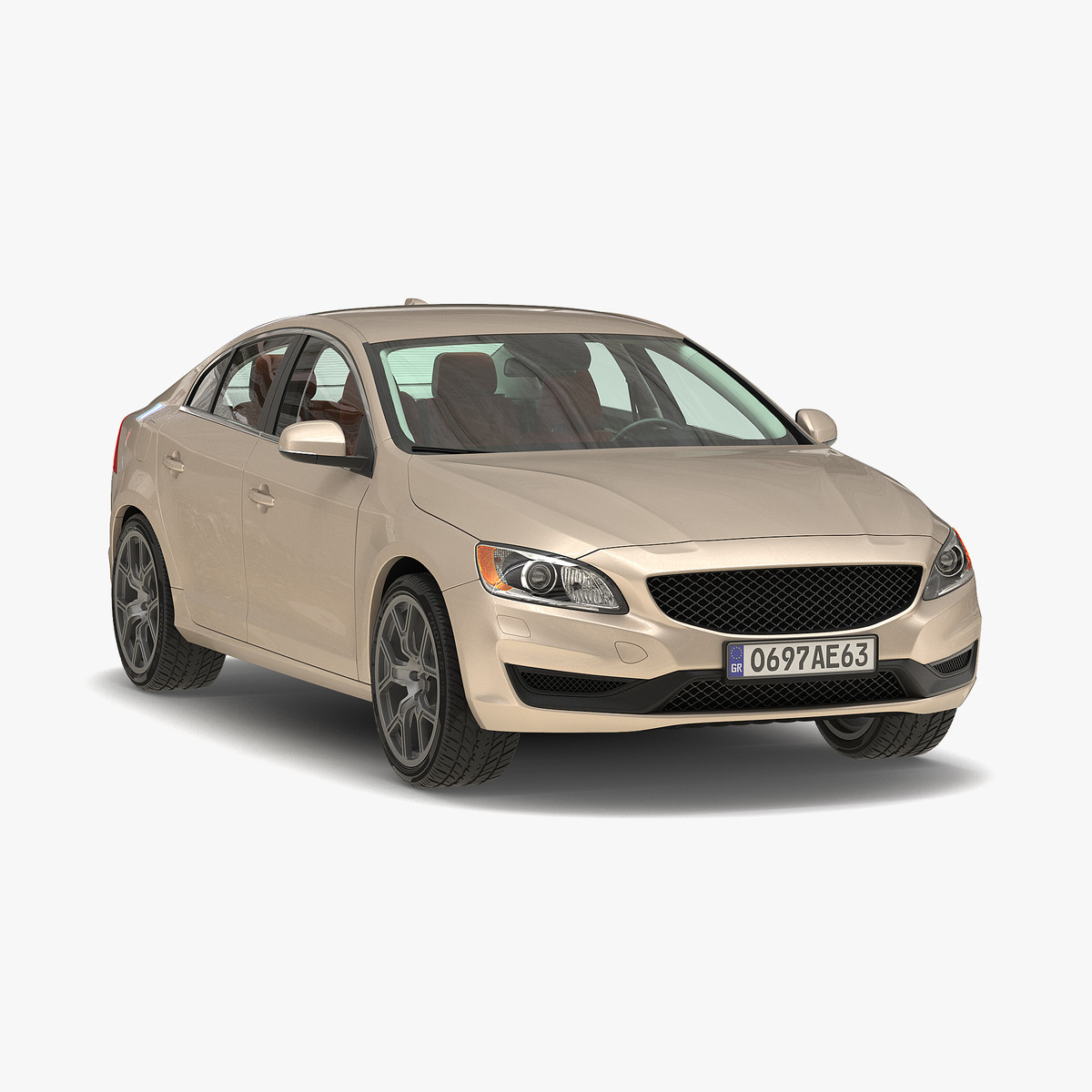 generic sedan 3 3d model