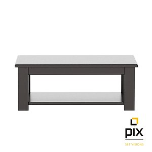realistic black wood coffee table max