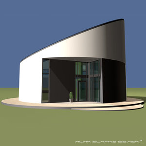 3d contemporary eco roundhouse model