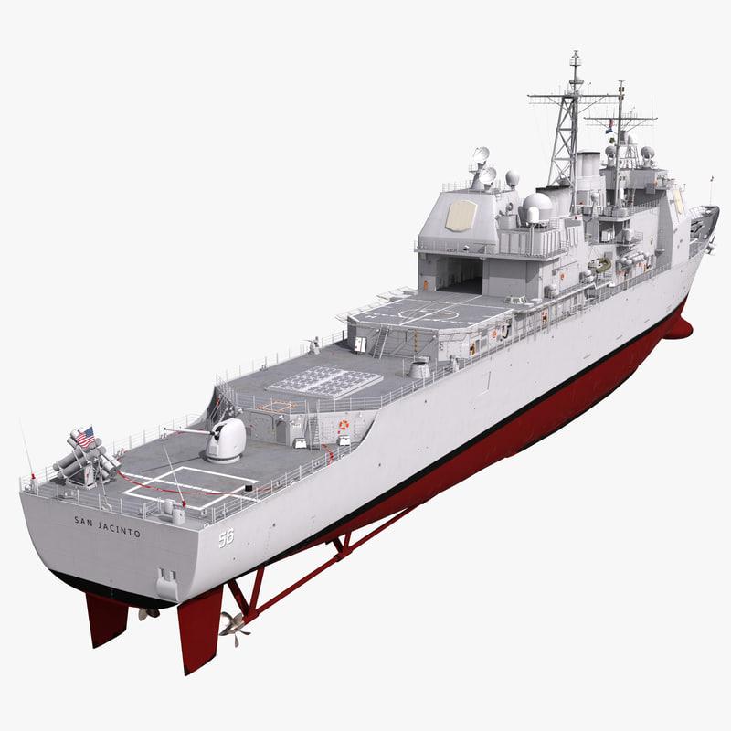 3d ticonderoga class cruiser san jacinto