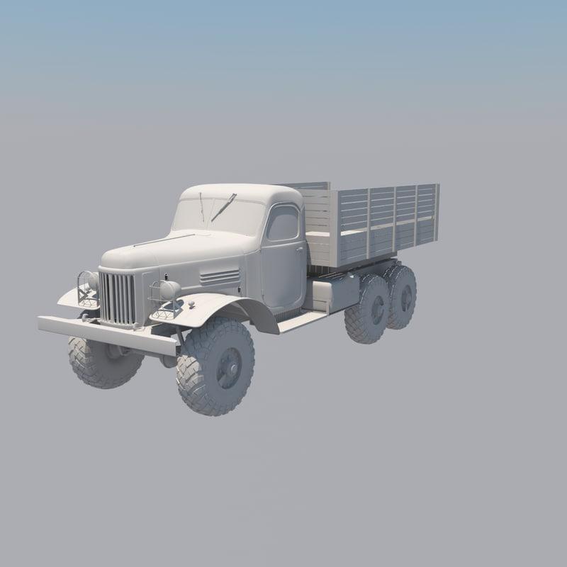 zil-157 truck 3d model