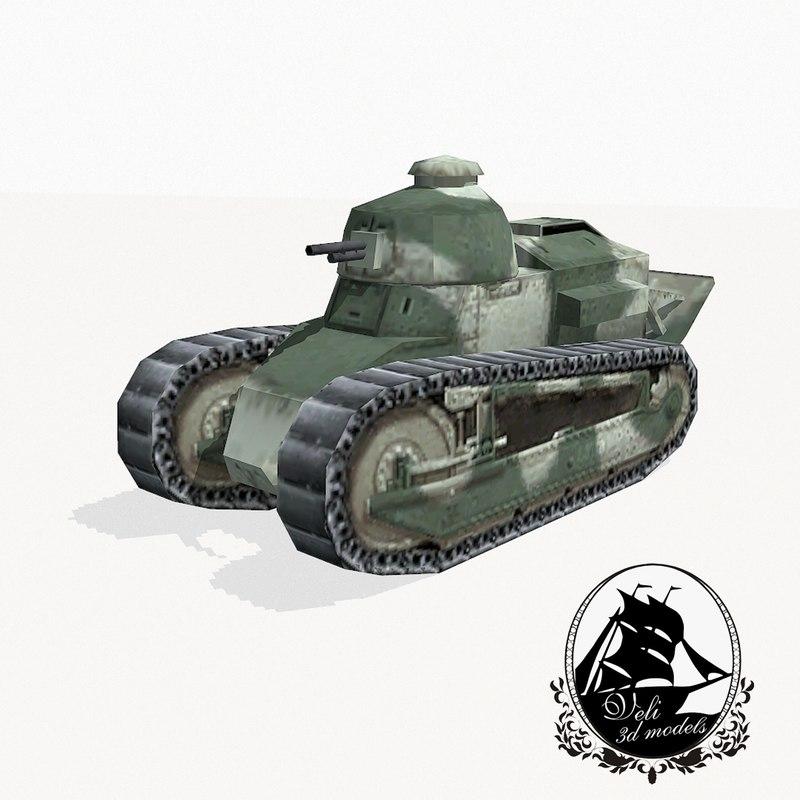 max renault ft ft-17 light tank