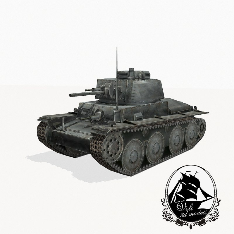 3d model stridsvagn 41 strv tank