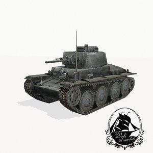3d model stridsvagn 41 strv tank