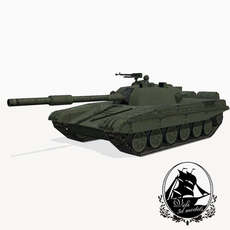 3d model t-72 battle tank