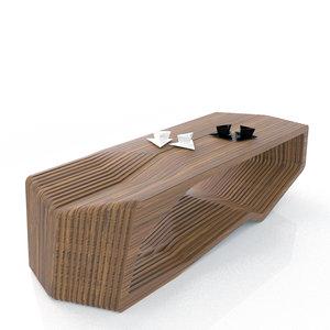 3d model mesa w coffee table