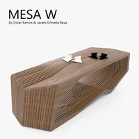 3d model mesa w coffee table