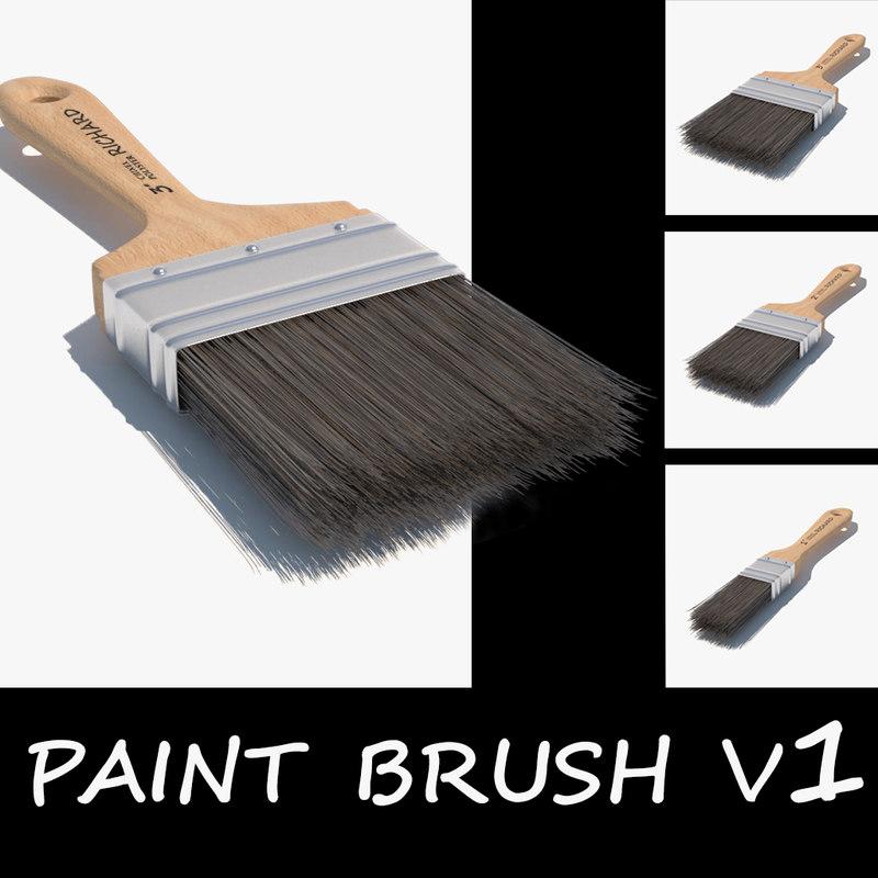 3d model paint brush v1