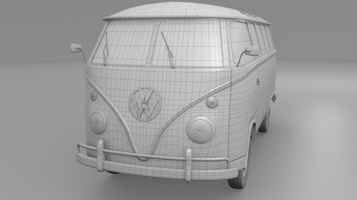 3d bus mk 1 hdri model
