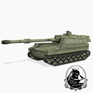 3d model m109 artillery