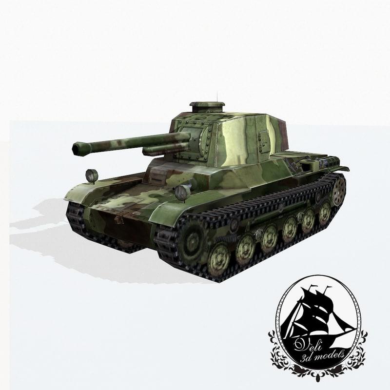 type 3 tank chi-nu 3d model