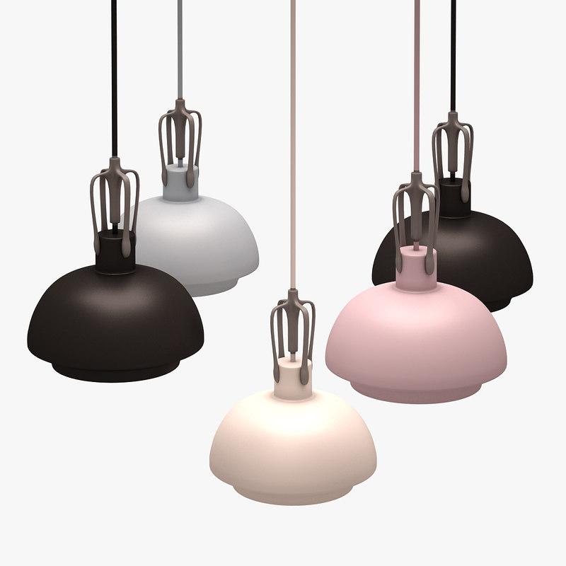 3d colorful lamp set model