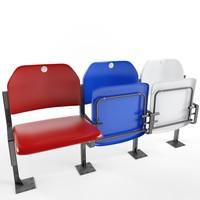 3d stadium seat pel model