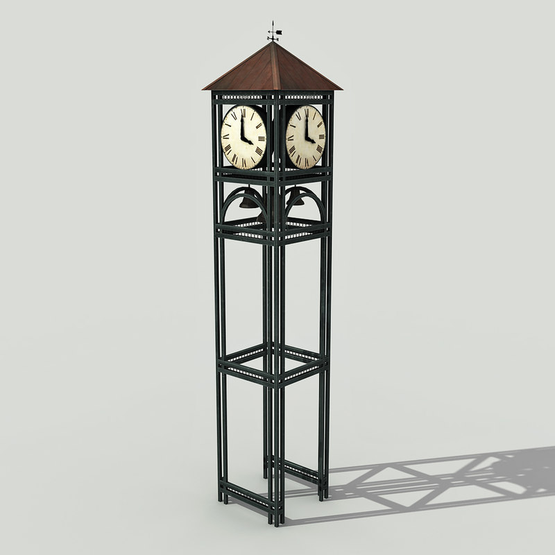 street clock - 3d model