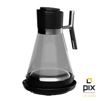 3d model realistic sunbeam glass kettle