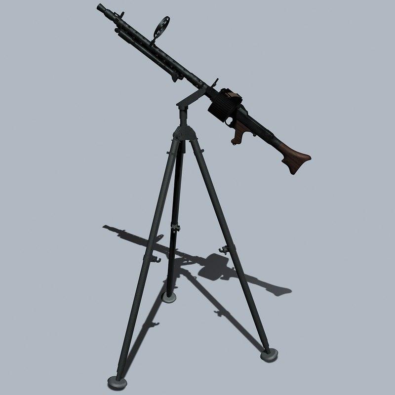 3ds german wwii mg34 machine gun