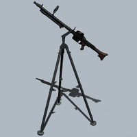 3ds german wwii mg34 machine gun