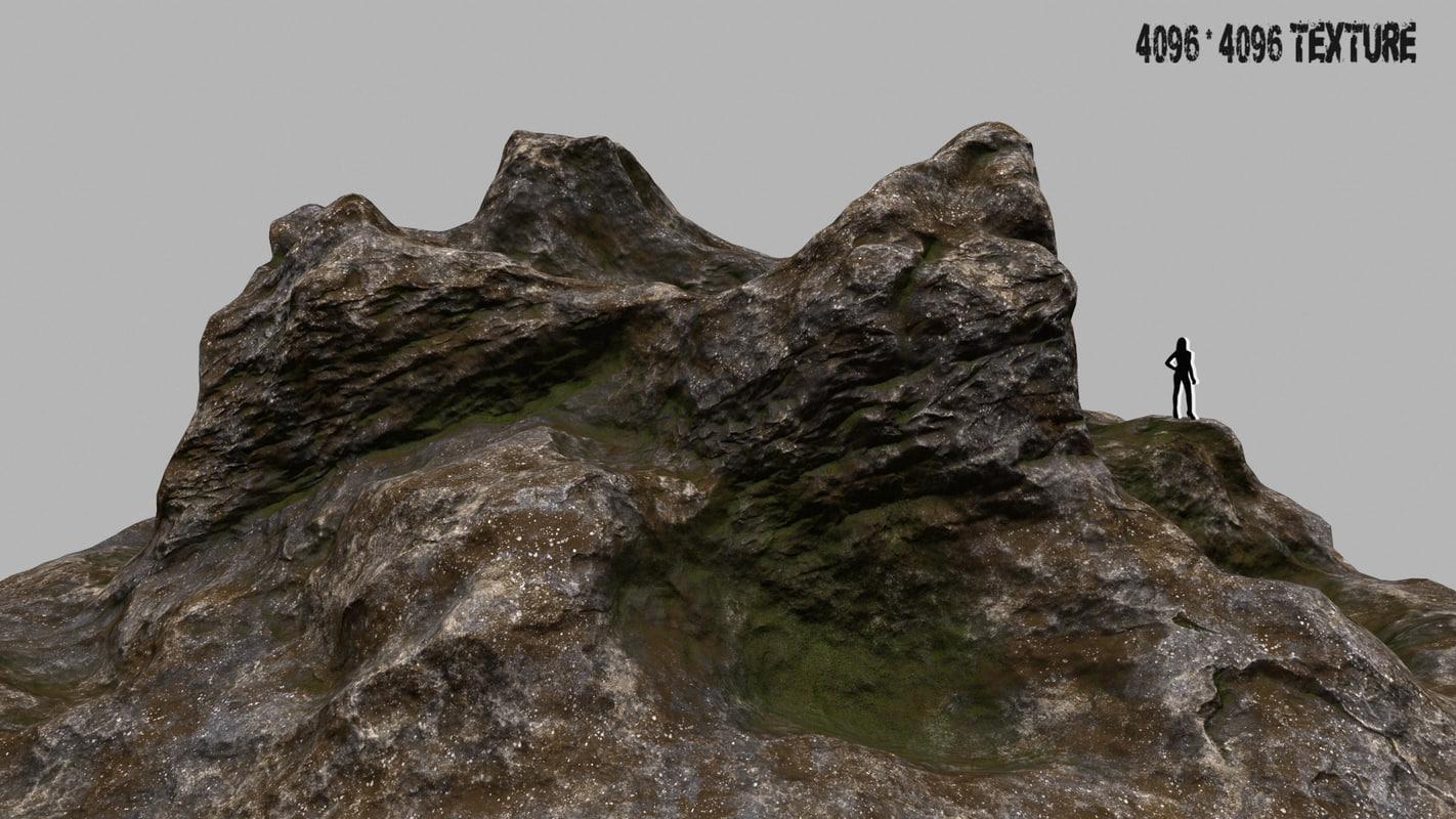 rock 1 3d blend