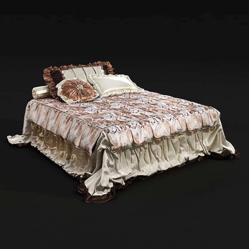 3d model bedclothes bed cloth