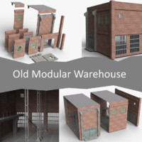 old modular warehouse 3ds