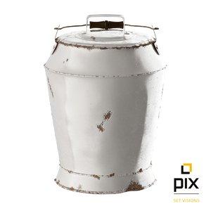 max realistic rustic milk churn