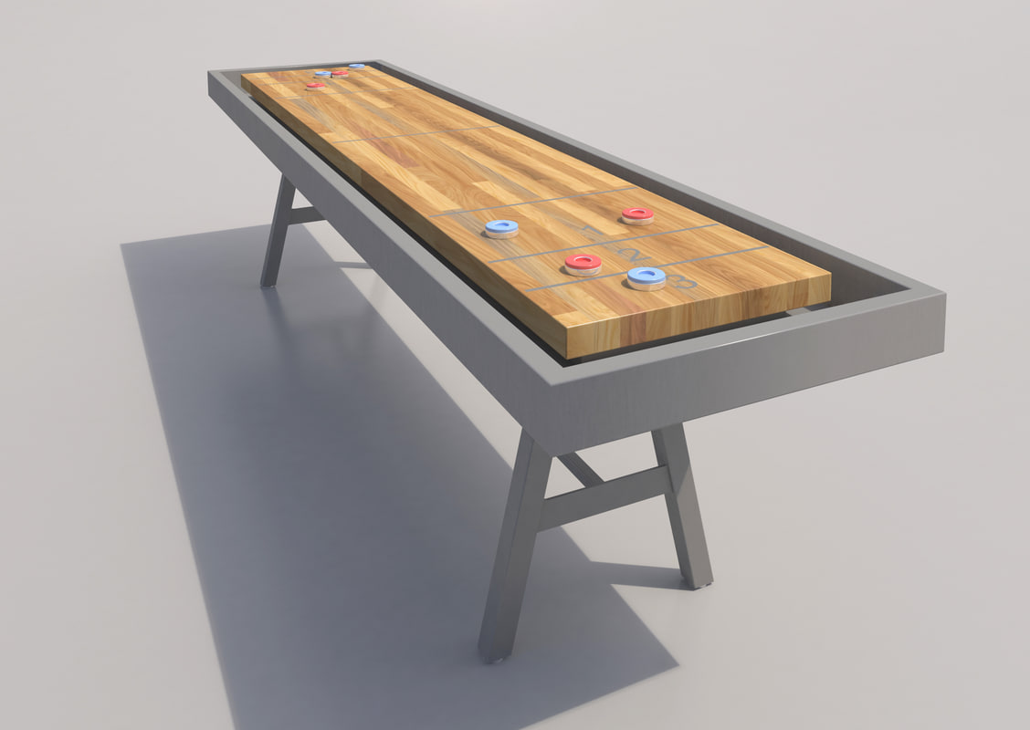 shuffleboard table discs 3d max