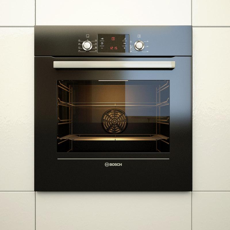 built oven bosch hbg43t360r 3d max