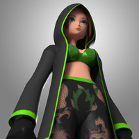 3d obj original girl anime mbe03