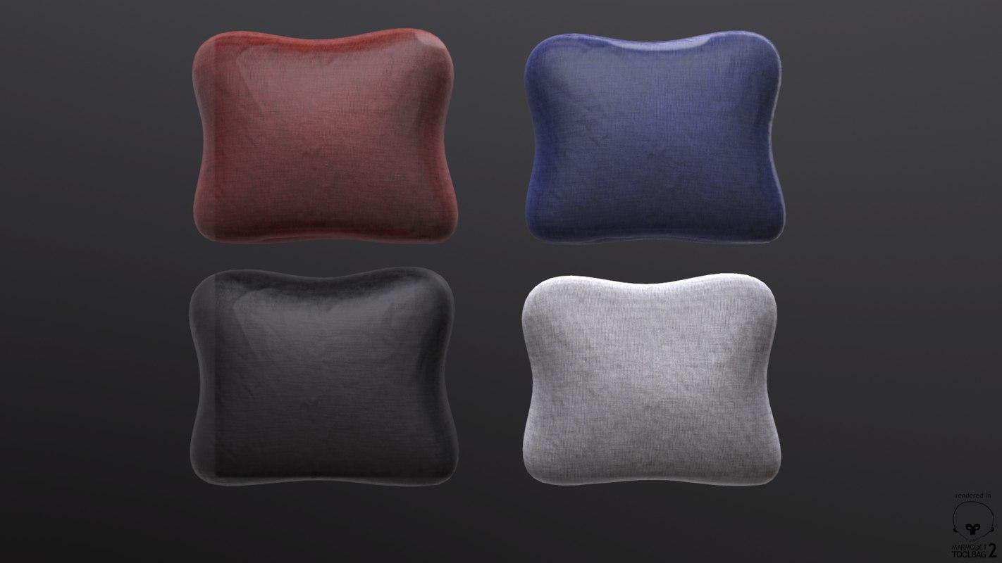 ready pillow pack 3d obj