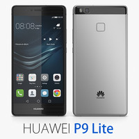 huawei p9 lite 3d model