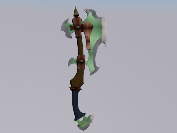 free 3ds model orcish axe