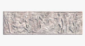 3d greek bas-relief
