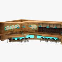 bar set 3d model