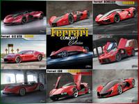 ferrari concept cars 3d model