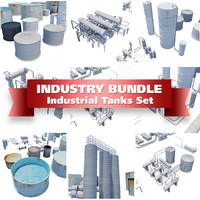 Industrial Tanks and Containers Set