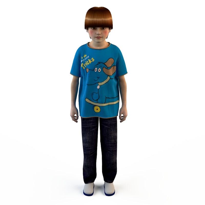 fashion clothing children baby s 3d obj