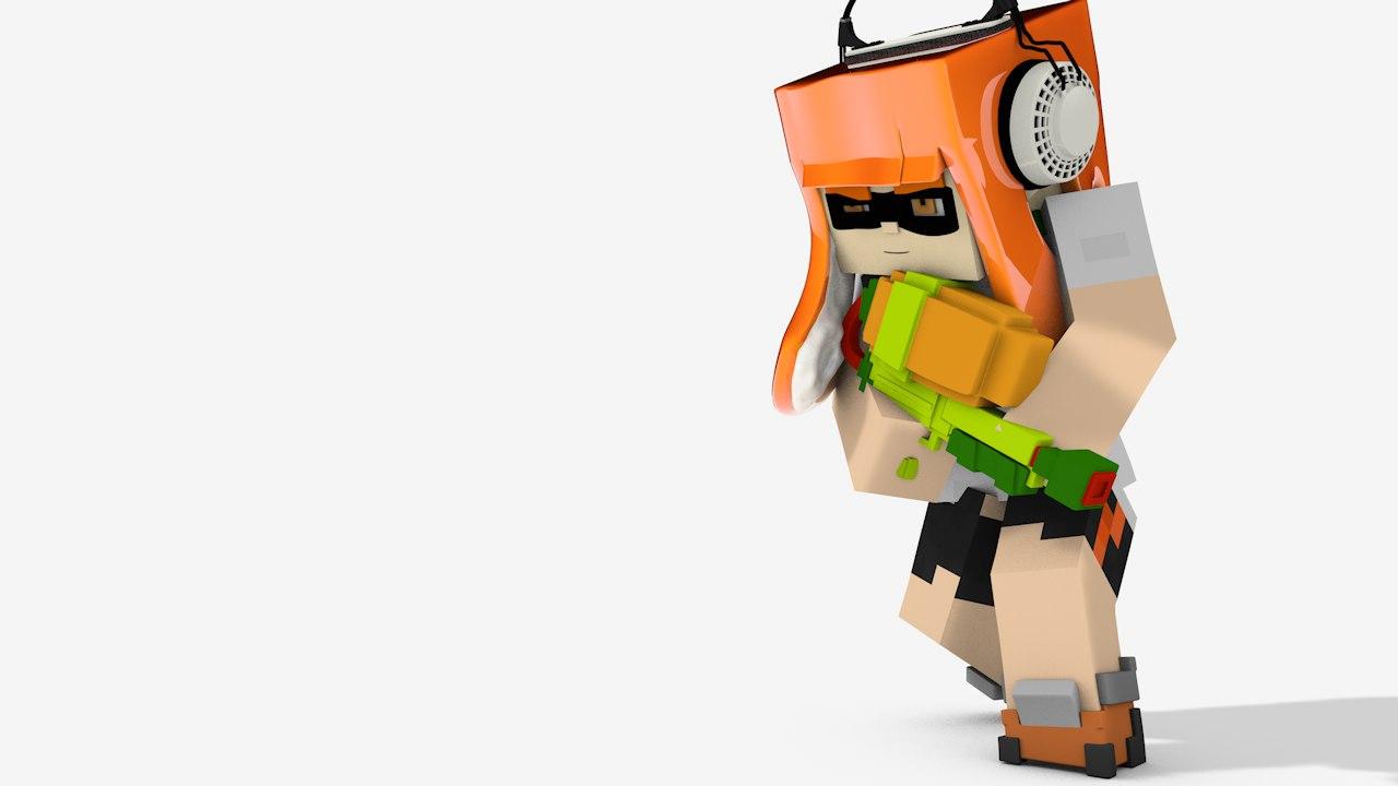 Minecraft splatoon rigs 3d c4d maxwellsz