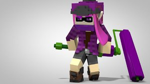 minecraft splatoon rigs 3d c4d