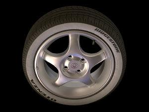 obj wheel aluminium rim