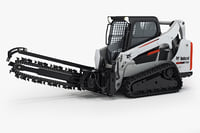 Bobcat T590 Compact Track Loader with Trencher Attachments