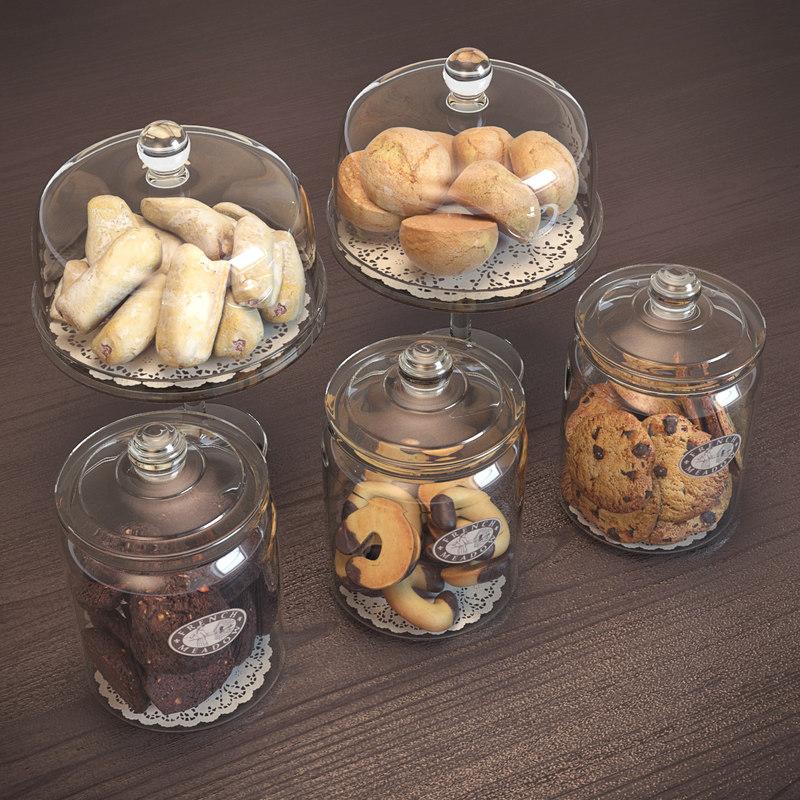 3d cookie jars model